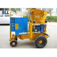 Dry / Wet Ready Mix Concrete Shotcrete Machine 13.8~14.8m3/Min Air Consumption Manufactures