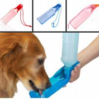 500ml Blue/Red/Pink pet water fountains Potable Pet Dog Cat Water Feeding Drink Bottle Manufactures