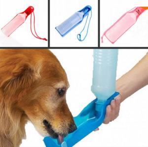 China 500ml Blue/Red/Pink pet waterer Potable Pet Dog Cat Water Feeding Drink Bottle on sale