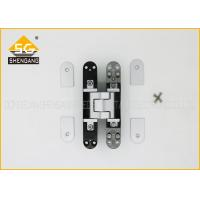 Hidden Bookcase Door Hinge , Zinc Alloy 3D Adjustable Hinge 160mm Manufactures