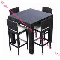 outdoor rattan luxury bar set,Europe style,coffee bar set vender in ningbo, china Manufactures