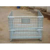 Collapsible Transport Steel Mesh Cages Metal Storage Basket For Warehouse Manufactures