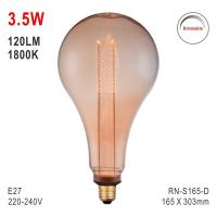 S165 Bulb, Decorative Lamp, E27 LED Bulb, Fashionable Glass Bulb, Energy Saving Lamp Manufactures
