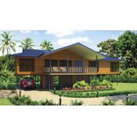 Bali Prefabricated Wooden Houses / ETC Home Beach Bungalows For Holiday Living Manufactures
