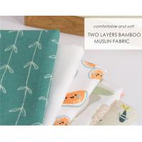 China Bamboo Cotton Soft Baby Muslin Fabric For Baby Blanket Reactive Printing on sale