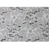 Fashion 100% Cotton White Bridal Lace Fabric For Garment 150gsm Manufactures