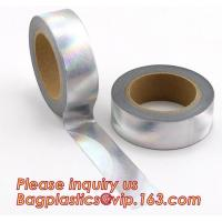 China foil washi tape holographic foil washi tape,Gold Laser Decorative Reflective Customized Washi Tape,Decorative Adhesive T on sale