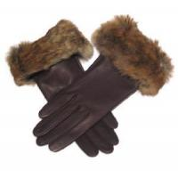 Lady′s Brown Fashion Leather Gloves (CF5468) Manufactures