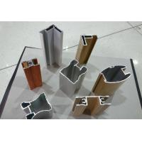 Wood Finished Aluminium Door Profiles Strength Hardness Wear Resistance Manufactures