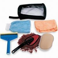 Car Cleaning Kit with Dust Brush, Includes Storage Bag and Sponge Manufactures