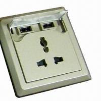 Wall socket with two USB Manufactures