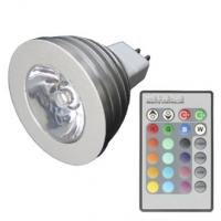 MR16 3W RGB Light LED Spot Bulb with Remote Control (12V) Manufactures