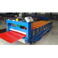 China 3kw Aluminium Wall Panel Roll Forming Machine with Hydraulic moulding cutter on sale