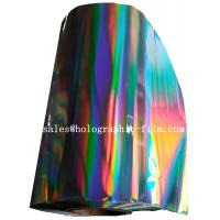 Hot sell 15 micron Seamless rainbow PET holographic lamination film for wet laminaion process Manufactures