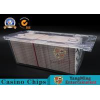 Clear Acrylic 1 - 8 Deck Playing Card Box 300pcs Free Locks With Metal Handle Manufactures