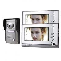 Two 7 Inch Monitor Color Video Door Phone System with Alloy Weatherproof Cover Camera Manufactures