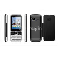 Black Dual Sim bar cell phone 500mAh with 8G TF card Manufactures