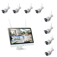 New 15.6 inch HD Monitor 2.0MP H.264 HD NVR Ip Camera Kit 8CH 1080P CCTV Home Security IP Camera System Manufactures