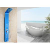 Blue Painting ROVATE Wall Mount Shower Panel Massage Function 1360*190mm Size Manufactures