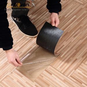 Wooden Like Self Adhesive Vinyl Floor Tiles ISO9001 Certification Manufactures