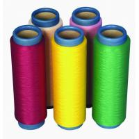 China High Elastic Colored Dope Dyed Yarn For Overlocking 120D/72F , Polyester DTY Yarn on sale