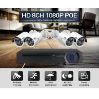 8CH POE NVR kits IEEE802.3af 48V CCTV system 1080P indoor outdoor camera waterproof 2MP security video surveillance set Manufactures