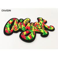Buy cheap Custom Iridescent Letter Chenille Iron on Patches For Letterman Jackets from wholesalers