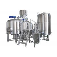 Semi - Auto Control Large Brewing Equipment 10BBL With Steam / Gas Heating Manufactures