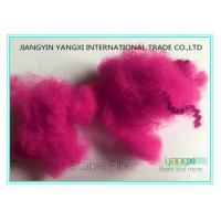 1.5D  High Tenacity Staple Spinning Fiber With Fuxia Red Solution Dyed Manufactures