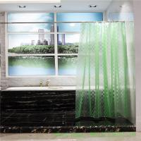 China mildew proof  3d effect eva peva bathroom shower curtain liner 10 guage with grommet on sale