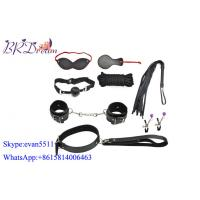 Adult Sex Fetishism Fantasy Bondage Restraints / Under Bed Bondage 7 Pieces Black Sex Toys Manufactures