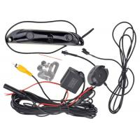 Car License Plate Frame Wireless Parking Sensor Kit , 3 In 1rearview Backup Camera System No Drilling Manufactures