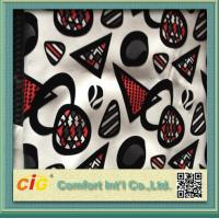 China Funiture Print PU Synthetic Leather Fabric 0.8mm Flocking Design on sale