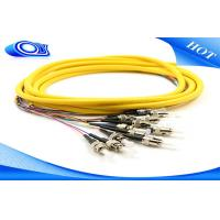 Buy cheap ST Fiber Optic Pigtail 3 Meters Jacketed 12Pk SM Yellow Jacketed For Multimedia from wholesalers