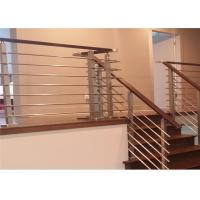 Home Safety Stainless Steel Rod Railing , Steel Railing Design For Balcony Manufactures