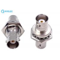 China BNC Female To BNC Female Connector Bulkhead Metal Material Female Straight Adapter on sale