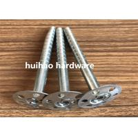 Galvanized Steel Rock Wool Insulation Anchor pins With 35mm Round Washer Base Manufactures