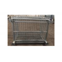 Quality Stainless Steel Large Industrial Wire Baskets Movable Lockable Easy Assemble for sale