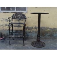 China Classic Metal Cast Iron Table And Chairs Black For Home Decoration on sale