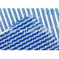 Blue Mixed White Color  Microfiber Terry Fabric Hard Wire Cleaning Cloth Fabric Manufactures