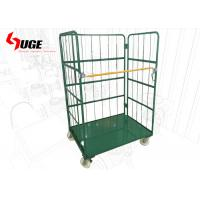 Metallic Removable Foldable Roll Cage Trolley With Shelves For Warehouse Manufactures