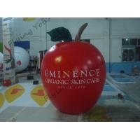 6ft High Apple Fruit Shaped Balloons For Exhibition Display , Inflatable Hanging Balloon Manufactures