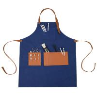 China Gardening Barber Waxed Cotton Apron Multiple Pockets Stylish Commercial on sale