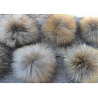 Satin Fabric Raccoon Fur Collar Customized Color / Size For Jacket Karpa Accessories Manufactures