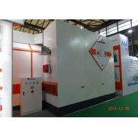 7m LED light Car Paint Spray Booth Equipment Rock Wool Panel With Siemens Motor Manufactures