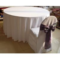 China Cheap Polyester Round Table Cloth on sale