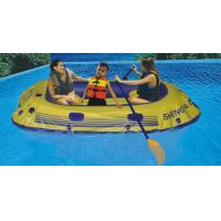 Portable 3 Person 0.45mm PVC Inflatable Boat With Paddle On Lake Manufactures