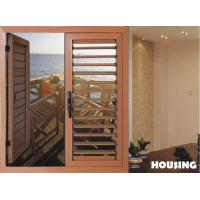 Aluminum Shutter Window And Door For Residential Building, Aluminum Louvers with Wood Grain Finished Manufactures