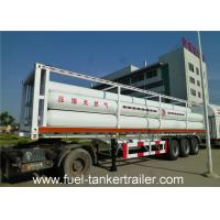 Professional 6265Nm3 , 25MPa , 9 Tube liquid tank trailers for Transport CNG Manufactures