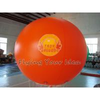 Huge Orange Color Waterproof Inflatable Round Balloons for Outdoor Advertising Manufactures